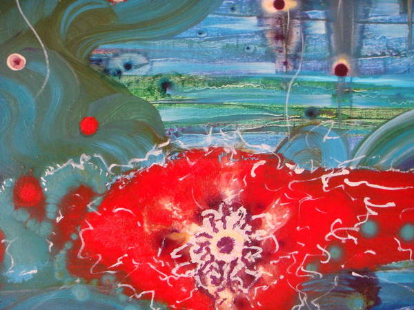 Pistil Painting - A Flower Heart by Mudrow S