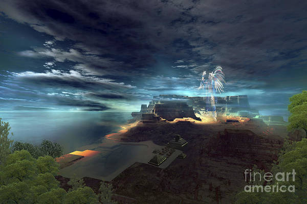 Archeology Digital Art - A Ghostly Presence Of An Indian Chief by Corey Ford
