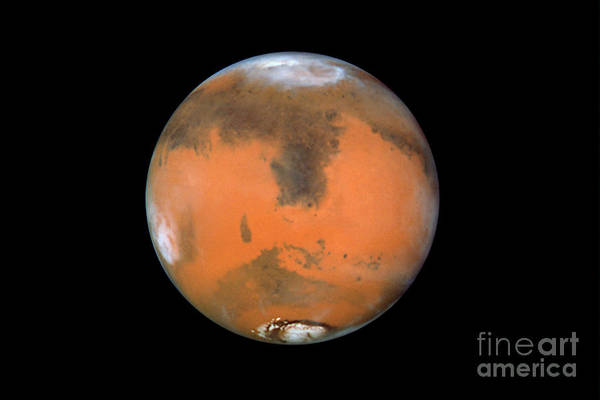 Photograph - A Global Mars Map by STScI/NASA/Science Source