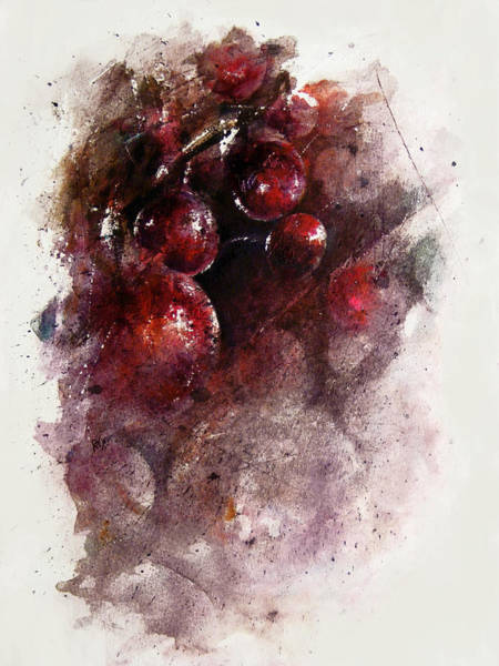 Enchantment Painting - A Grape Mystery by Rachel Christine Nowicki