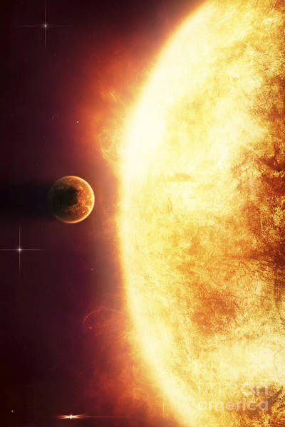 Digital Art - A Growing Sun About To Burn A Nearby by Tomasz Dabrowski