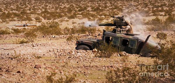 Gunfire Photograph - A Gunner Firing A Bgm-71 Tow Missile by Stocktrek Images