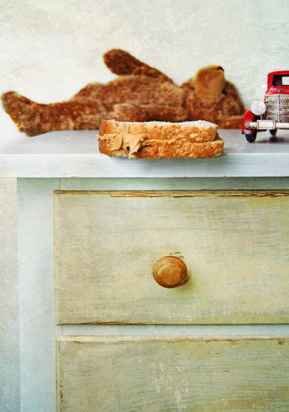 Chest Of Drawers Photograph - A Half Eaten Peanut Butter Sandwich by Marlene Ford