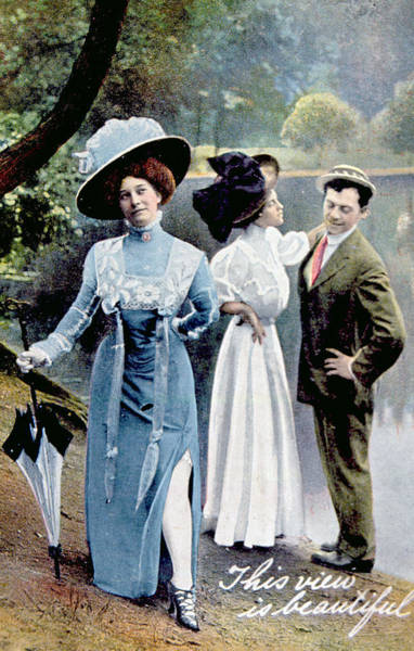 Infidelity Wall Art - Photograph - A Humorous Card From 1908 Depicting by Everett