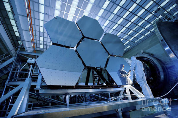 Photograph - A James Webb Space Telescope Array by Stocktrek Images