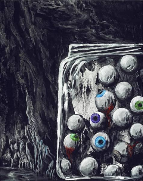 Eyeballs Painting - A Jar Of Eyeballs by David Junod