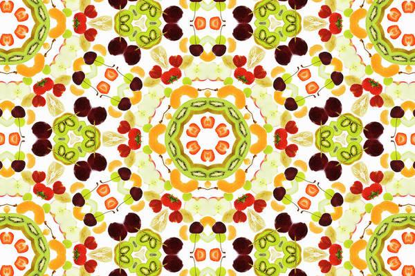 Wall Art - Photograph - A Kaleidoscope Image Of Fresh Fruit by Andrew Bret Wallis