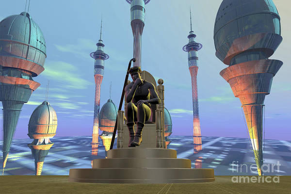 Attractive Digital Art - A King Sits On His Throne by Corey Ford