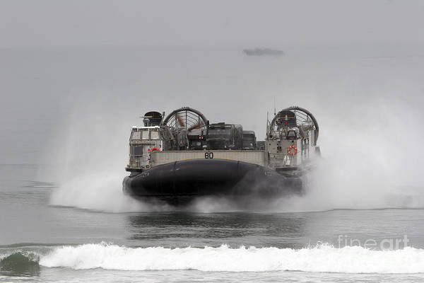 Photograph - A Landing Craft Air Cushion Comes by Stocktrek Images