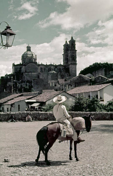 Wall Art - Photograph - A Man On Horseback Looks At The Borda by Luis Marden