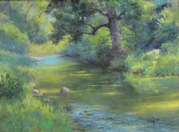 Pastel - A Midsummer Day's Stream II  by Bill Puglisi