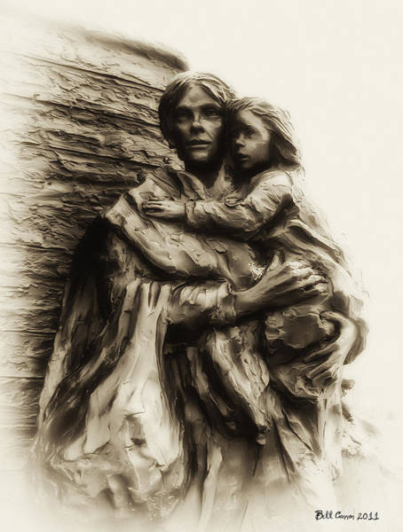 Photograph - A Mother And Child by Bill Cannon