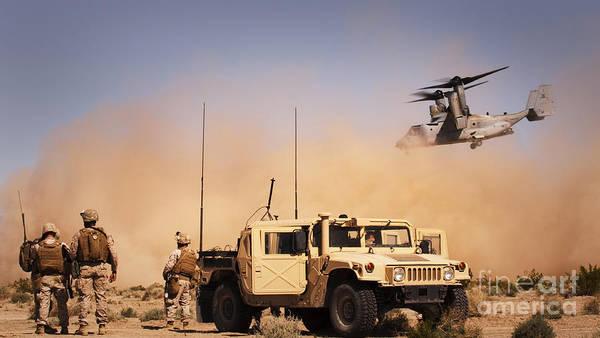 Mv-22 Photograph - A Mv-22 Osprey Makes Its Way by Stocktrek Images