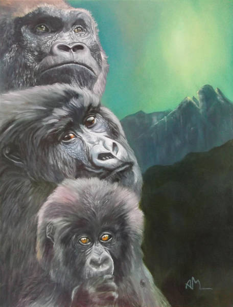 Baby Gorilla Painting - A New Dawn by Antonio Marchese