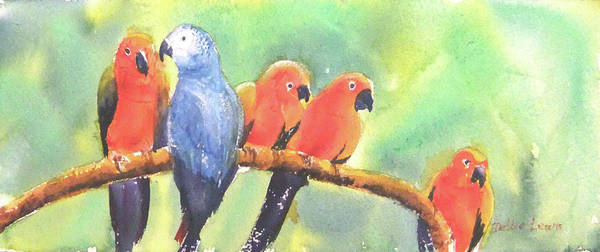 Painting - A New Slant On Life by Debbie Lewis
