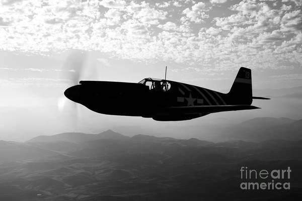 Photograph - A P-51a Mustang In Flight by Scott Germain