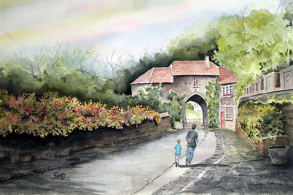Painting - A Peaceful Walk by Sam Sidders