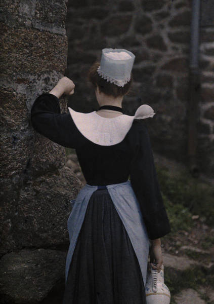 Wall Art - Photograph - A Photograph Of A Woman In Traditional by Gervais Courtellemont