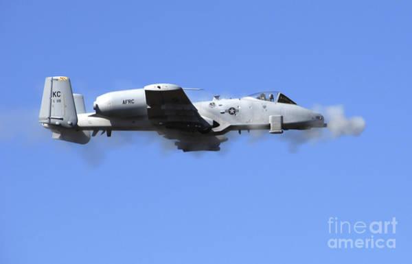 Gunfire Photograph - A Pilot In An A-10 Thunderbolt II Fires by Stocktrek Images