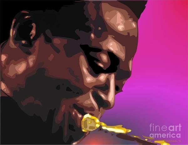 A Portrait Of Miles Art Print