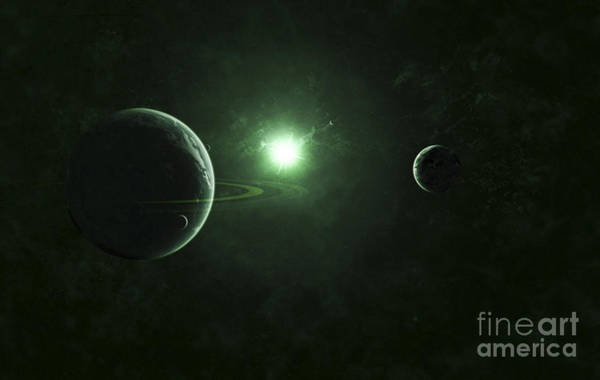 Cosmology Digital Art - A Quiet And Unusual System That Emits by Kevin Lafin
