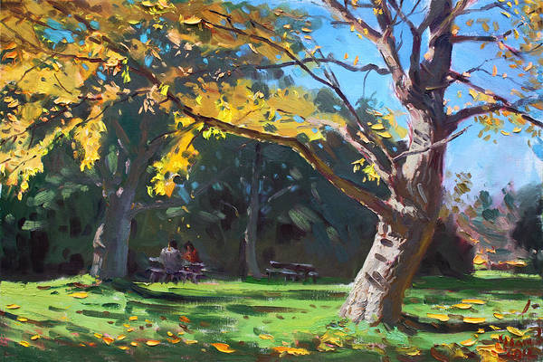 Wall Art - Painting - A Quiet Fall Afternoon by Ylli Haruni