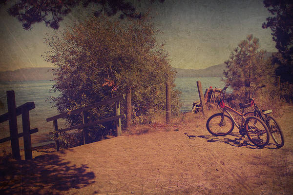 Handrail Photograph - A Ride Down To The Lake by Laurie Search