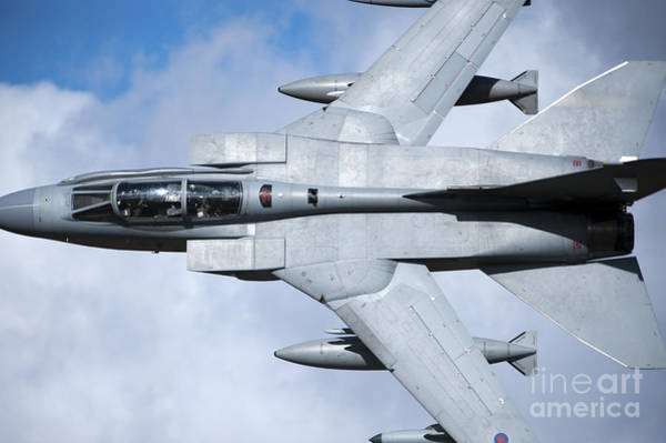 Mach Loop Photograph - A Royal Air Force Tornado Gr4 Low by Andrew Chittock