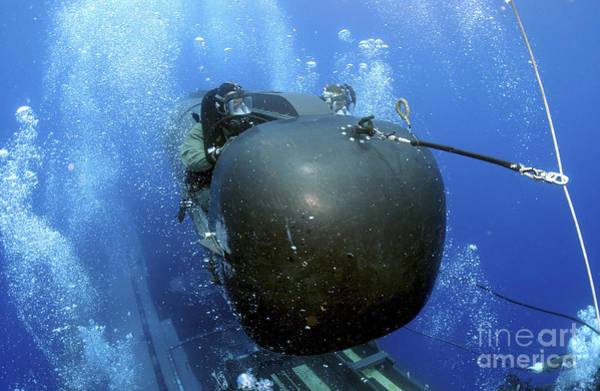 Photograph - A Seal Delivery Vehicle Team Member by Stocktrek Images