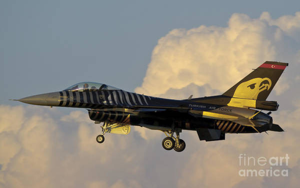 Photograph - A Solo Turk F-16 Of The Turkish Air by Giovanni Colla