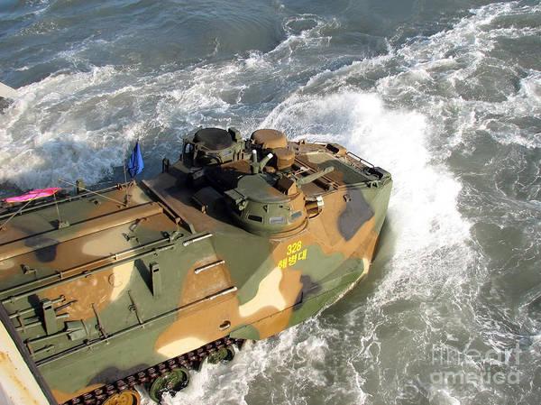 Aav Photograph - A South Korean Amphibious Assault by Stocktrek Images