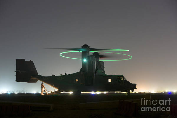 Special Operations Forces Photograph - A Special Forces Cv-22 Osprey by Terry Moore
