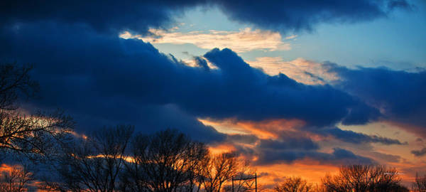 Photograph - A Spring Sunset by Edward Peterson