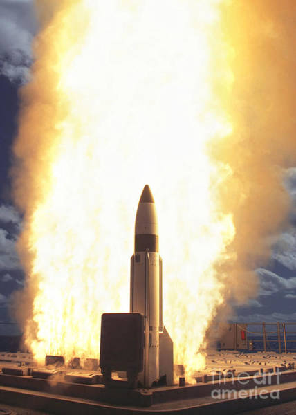 Interceptor Photograph - A Standard Missile 3 Leaves The Guided by Stocktrek Images