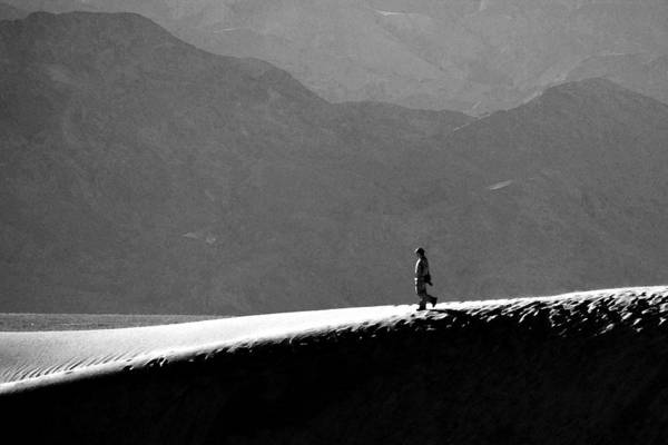 Photograph - A Stroll In Death Valley by Wes and Dotty Weber