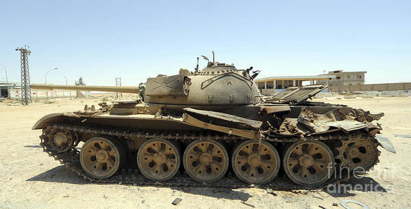 Photograph - A T-55 Tank Destroyed By Nato Forces by Andrew Chittock