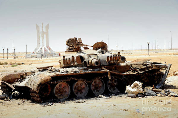 Photograph - A T-80 Tank Destroyed By Nato Forces by Andrew Chittock