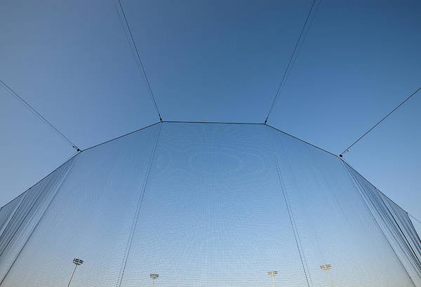 Wall Art - Photograph - A Tall Screen At A Stadium. Material by Will and Deni McIntyre
