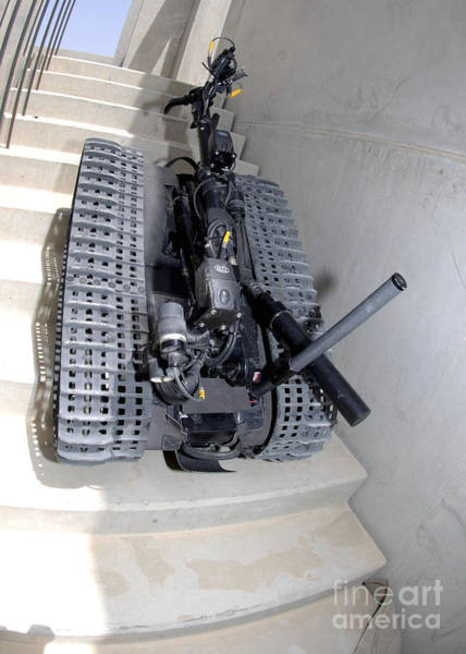 Bahrain Photograph - A Talon 3b Robot Unit Climbing A Flight by Stocktrek Images