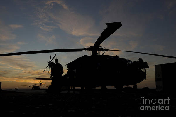 Photograph - A Uh-60 Black Hawk Helicopter by Terry Moore