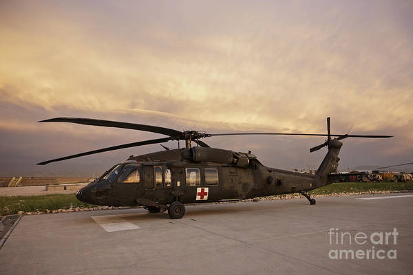 Utility Aircraft Photograph - A Uh-60l Black Hawk Medevac Helicopter by Terry Moore