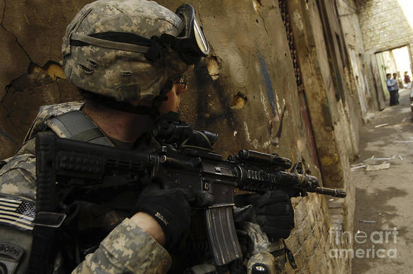 Photograph - A U.s. Army Soldier Providing Security by Stocktrek Images