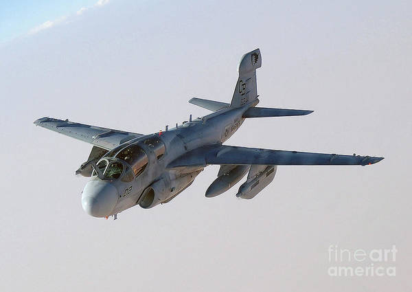 Prowler Photograph - A U.s. Marine Corps Ea-6b Prowler by Stocktrek Images