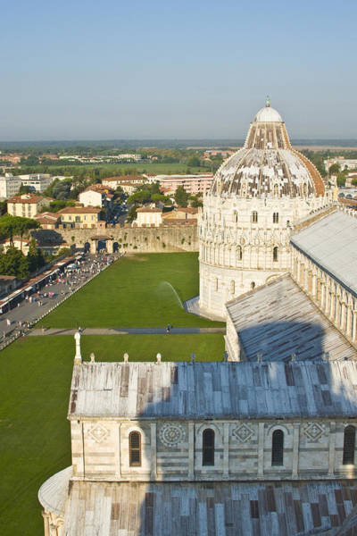 A View From The Bell Tower Of Pisa  Art Print