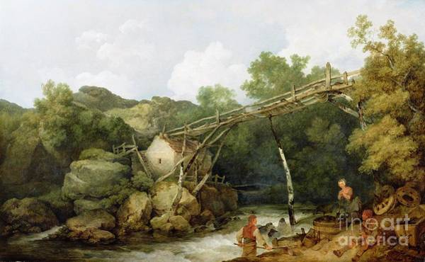 Oil Industry Painting - A View Near Matlock by Philip James Loutherbourg