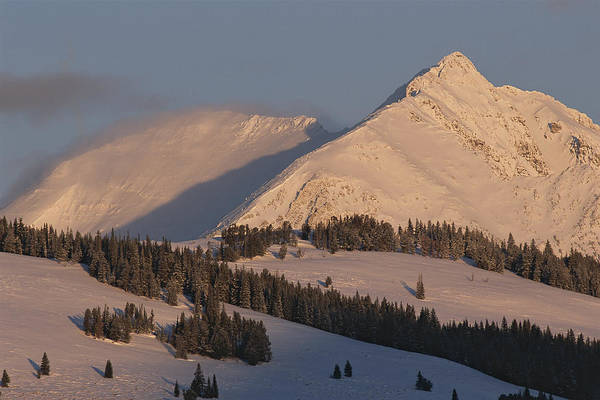Electric Peak Wall Art - Photograph - A View Of Electric Peak At Twilight by Tom Murphy