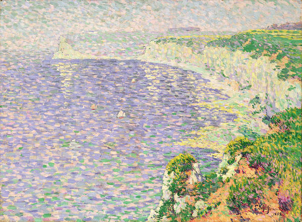 Normandy Painting - A View Of The Cliffs Of Etretat by Claude Emile Schuffenecker