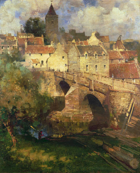 Tall Buildings Painting - A Village In East Linton Haddington by James Paterson