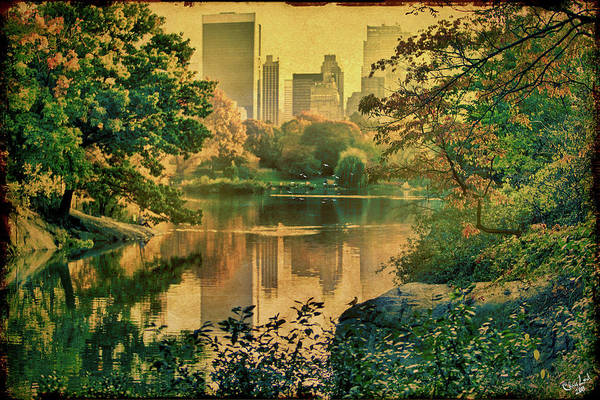 Digital Art - A Vintage Glimpse Of The Boating Lake by Chris Lord