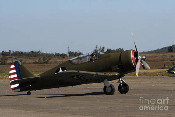 Muskogee Photograph - A Vintage P-64 Fighter Plane by Terry Moore